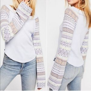 NWT Free People Fairground Long Sleeve Thermal
